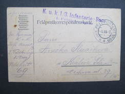 GANZSACHE Feldpostamt No.69 Infanterie Baon Feldpost 1916 ////  D*23654 - Briefe U. Dokumente