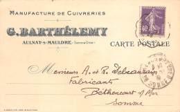 78 - LES YVELINES / Aulnay Sur Mauldre - Manufacture De Cuivreries - Barthélemy - Frankreich