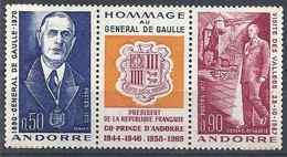 1972 ANDORRE Français 225A** Ou 224-25** De Gaulle, Armoirie - French Andorra