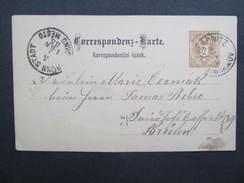 GANZSACHE Ungrowitz Jimramov - Brünn 1885 ////  D*23658 - 1850-1918 Imperium