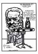 CPSM Absinthe Absintheur Victor HUGO  Caricature Tirage Limité Illustrateur LARDIE - Lardie