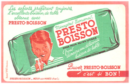 "L/Buvard      ""Presto Boisson""    (N= 1) - Limonades"