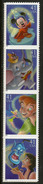 Peter Pan Et La Fée Clochette,Aladdin Et Le Génie,Dumbo & Souris Thimotée,etc 4 Timbres Neufs ** USA - Disney