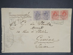 ESPAGNE - Enveloppe En Recommandé De Barcelone Pour La Suisse En 1917 Avec Contrôle Postal - L 6949 - Covers & Documents