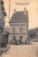 """78 - LES YVELINES / Carrières Sous Bois - Place De Strasbourg - Café """" A La Civette Des Carrières """" - Beau Cliché Animé - France"""