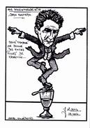 CPSM Absinthe Absintheur Jean COCTEAU Caricature Tirage Limité Illustrateur LARDIE - Lardie