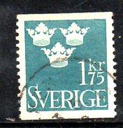 R1485 - SVEZIA 1948, 175 Ore N. 340 Usato - Svezia