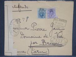 ESPAGNE -Enveloppe En Recommandé De La Légation De Roumanie à Madrid Pour La France En 1916 Avec Contrôle Postal- L 6950 - Covers & Documents