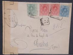 ESPAGNE - Enveloppe En Recommandé De Barcelone Pour La France Avec Contrôle Postal - L 6951 - Covers & Documents