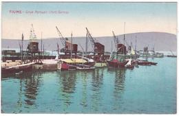 #7751 Croatia, Fiume Postcard  Mailed:1918: Sea-port Barosa, Ships, Boats - Kroatië