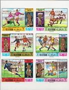 Ras Al Khaima MNH Overprinted Football Imperforated Set - Coupe Du Monde