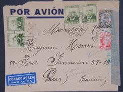 ESPAGNE - Enveloppe De Mataro Pour La France En 1938 Avec Censure De Barcelone - L 6954 - Republikanische Zensur
