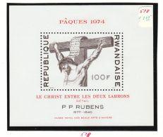 Rwanda YT BF 35 ** : Christ , Rubens , Pâques - 1974 - Quadri