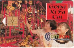 MALAYSIA - Gong Xi Fa Cai, CITIFON Telecard RM10, Used - Malaysia