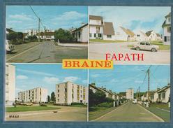 02-BRAINE-Multivues Les Nouvelles Cités-voiture-non écrite - 2 Scans - 10.5 X 15-MAGE - France