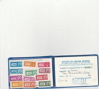 6314. Lp   Tessera Riconoscimento Istituto Del Nastro Azzurro Sezione Torino - Materiale E Accessori
