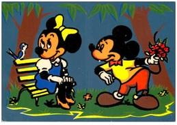 Walt Disney Productions 1961 - Mickey Faisant La Cour à Minnie 1961 - Collage Feutrine Noire - Ed. Sepheriades - Autres
