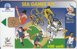 INDONESIA(chip) - Sea Games XIX 3, Telkom Telecard 100 Units, Tirage 1000, 10/97, Mint - Indonesien