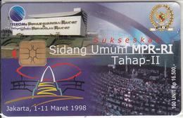 INDONESIA(chip) - Sidang Unun MPR-RI Tahap-II, Telkom Telecard Rp 16500, Tirage 1000, 03/98, Mint - Indonesien