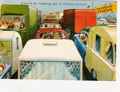 CPSM Embouteillage Caravanes Vacanciers Camping Humour Illustrateur L. CARRIERE N° 50358 - Carrière, Louis