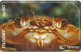 Norway - Telenor - Harbour Crab - Animals - N-206 - 06.2001, 20.000ex, Used - Norway