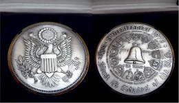 """Silber-Medaille """"The First 13 States Of The US"""" - Monnaies"""