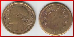 **** ALGERIE - ALGER - JETON - EXPO 37 (MODULE DE LA 1 FRANC MORLON) **** EN ACHAT IMMEDIAT - Monétaires / De Nécessité