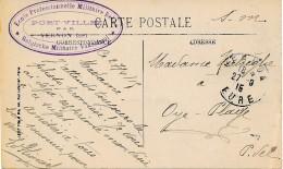 Carte Vue De Vernon 27.9.16 En Franchise - Ecole Profession-nelle Militaire Belge - Port-Villez Par Vernon (Eure) - WW I