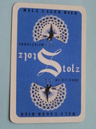 STOLZ Meiresonne Malz Lager Bier / JOKER ( Details - Zie Foto´s Voor En Achter ) !! - Cartes à Jouer Classiques