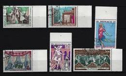 """MONACO - Mi-Nr. 1384 - 1389 - 100 Jahre Opernsaal """"Salle Garnier"""" In Monte Carlo (II): Ballettszenen Gestemp - Gebraucht"""
