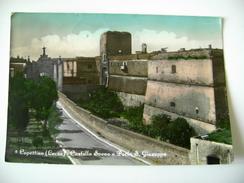 COPERTINO  CASTLE   CASTELLO SVEVO    LECCE    PUGLIA   VIAGGIATA  COME DA FOTO  Acquerellata - Lecce