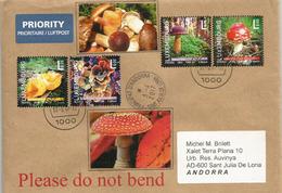 Champignons Du Luxembourg, Sur Lettre Adressée ANDORRA, Avec Timbre à Date Arrivée - Pilze