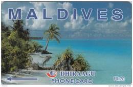 MALDIVES ISL.(GPT) - Beach, CN : 89MLDA, Used - Maldives
