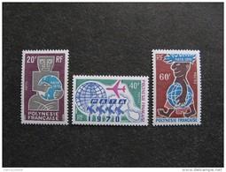Polynésie: TB Série N° 77 Au N° 79 ,neufs XX . Cote = 48 Euros. - Neufs