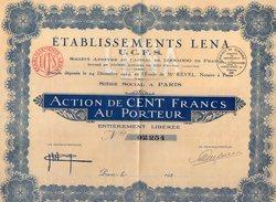 VP9748 - PARIS 1924 - Action - Etablissements LENA - U.C.F.S. - Industrie