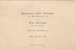 Anzeige Zur Vermählung 1917 - Hauptmann Anton Woloschin D.Sap.-Baons. Nr.14 Und Elsa Woloschin Geb. Von Mosing - 1914-18