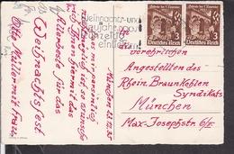 Postkarte Deutsches Reich 598 MEF Stempel München 1935 - Briefe U. Dokumente