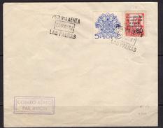 España 1937. Canarias. Carta De Las Palmas. Matasellos De Favor. Censura. - Marcas De Censura Nacional