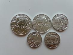 KATANGA CATANGA 2017 Set Of 5 Coins ANIMALS UNC - Munten