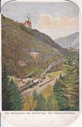 AK Das Wahrzeichen Des Semmering - Das Silbererschlößchen - Eisenbahn - Künstlerkarte - 1933 (28235) - Semmering