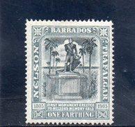 BARBADE 1905 * - Barbados (...-1966)