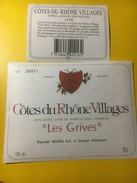 3875 - Côtes-du-Rhône Vllages Les Grives - Côtes Du Rhône