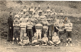 BELLEY INSTITUTION LAMARTINE FOOT-BALL RUGBY 1907-1908 - Belley