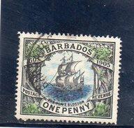 BARBADE 1906 O - Barbados (...-1966)