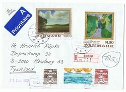 Dänemark, Einschreiben, Luftpost, 1992. - Dänemark