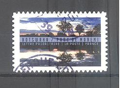 France Autoadhésif Oblitéré (Reflets, Paysages Du Monde : Botswana) (cachet Rond) - France
