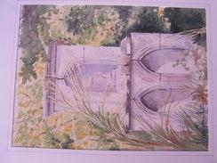AQUARELLE ORIGINALE SABLET 84 Vaucluse - Autres Collections