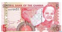 BILLET BANQUE GAMBIA 5 DALASIS - Gambia