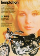 Norton Commando 850  (1974)  -  Vintage Advertising Postcard  -  CPM - Motorbikes