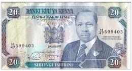 BILLET BANQUE KENYA 20 SHILLINGS - Kenia